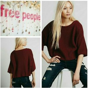 Free People Oversized Crop Sweater